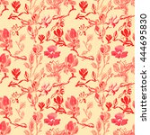 seamless pattern with... | Shutterstock . vector #444695830