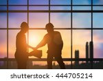 silhouette engineer industry...   Shutterstock . vector #444705214