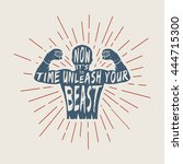 vintage motivation logo  emblem ...   Shutterstock .eps vector #444715300