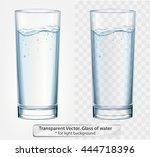transparent vector glass of... | Shutterstock .eps vector #444718396
