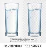 transparent vector glass of... | Shutterstock .eps vector #444718396