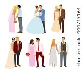 just married couples in... | Shutterstock .eps vector #444719164