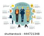 info graphics with professional ... | Shutterstock .eps vector #444721348