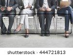 banner ribbon copy space symbol ... | Shutterstock . vector #444721813