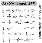 vector hand drawn arrows set... | Shutterstock .eps vector #444722989