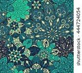 seamless mandala pattern for... | Shutterstock .eps vector #444724054