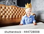 Little Boy Prince With Crown...
