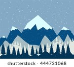 winter is coming. the white... | Shutterstock .eps vector #444731068