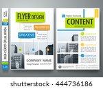 flyers design template vector.... | Shutterstock .eps vector #444736186