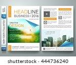 flyers design template vector.... | Shutterstock .eps vector #444736240