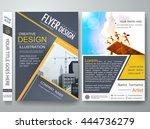 flyers design template vector.... | Shutterstock .eps vector #444736279
