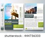 flyers design template vector.... | Shutterstock .eps vector #444736333