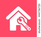 home repair  home   wrench... | Shutterstock .eps vector #444736720