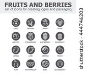 fruit and berries icon... | Shutterstock .eps vector #444746203