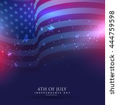 beautiful american flag... | Shutterstock .eps vector #444759598