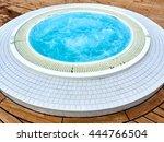 relaxing round jacuzzi outdoor   Shutterstock . vector #444766504