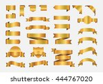 set of ribbons.golden ribbon... | Shutterstock .eps vector #444767020