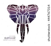 stylized front view elephant... | Shutterstock .eps vector #444767314