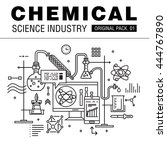modern chemical science... | Shutterstock .eps vector #444767890