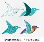 bird logo design | Shutterstock .eps vector #444769558