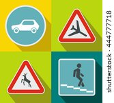 road sign banners set in flat... | Shutterstock .eps vector #444777718