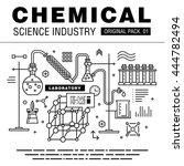 modern chemical science... | Shutterstock .eps vector #444782494