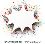 paper figured white background... | Shutterstock .eps vector #444785170