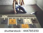 search engine marketing online... | Shutterstock . vector #444785350