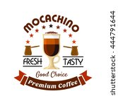 tall cup of mocaccino topped... | Shutterstock .eps vector #444791644