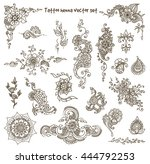 vector abstract patterns of... | Shutterstock .eps vector #444792253