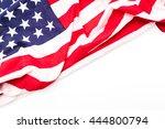 american flag on white... | Shutterstock . vector #444800794