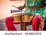 Street Musician Playing Drums...