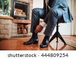 groom is getting ready in the... | Shutterstock . vector #444809254