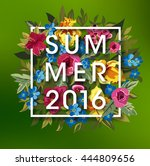 summer typographical background ... | Shutterstock .eps vector #444809656