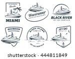 Set Of Jet Ski Rental Logo ...