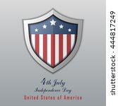 usa independence day... | Shutterstock .eps vector #444817249