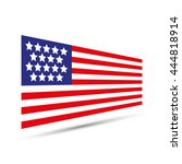 american flag icon vector... | Shutterstock .eps vector #444818914