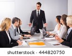 chief with professional happy... | Shutterstock . vector #444820750