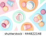 colourful still life with... | Shutterstock . vector #444822148