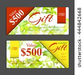 gift voucher template. can be... | Shutterstock .eps vector #444842668