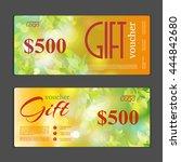 gift voucher template. can be... | Shutterstock .eps vector #444842680
