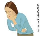 closeup portrait of sick young... | Shutterstock .eps vector #444843883