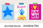 Set Of Vector Bright Summer...