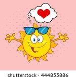 Love Sun Cartoon Mascot...