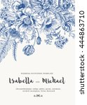 elegant wedding invitations... | Shutterstock .eps vector #444863710
