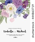 elegant wedding invitations... | Shutterstock .eps vector #444863719