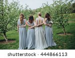 wedding. the bride in a white... | Shutterstock . vector #444866113