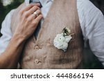 wedding. the groom in a shirt... | Shutterstock . vector #444866194