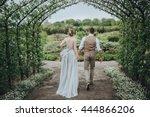 wedding. the bride in a white... | Shutterstock . vector #444866206