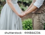 wedding. the bride in a white... | Shutterstock . vector #444866236